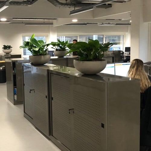 Moderne kantoor bloempotten